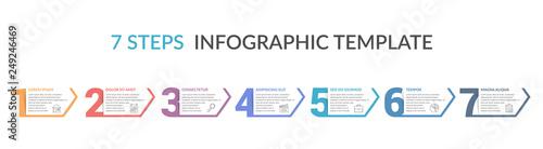 Fotografie, Obraz  Seven Steps Infographic Template