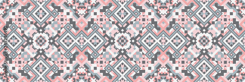 Canvas Prints Boho Style Geometric Ethnic Style Vector Seamless Pattern