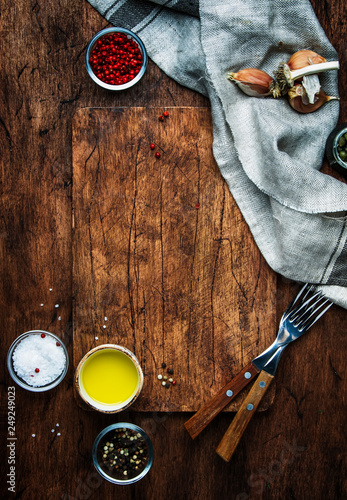 Food Cooking Background Vertical Template Serving Cutting Board