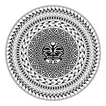 Polynesian Circular Ornament. ...