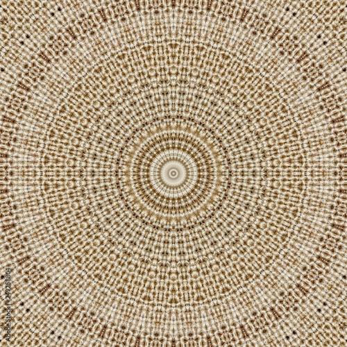Photo Stands Boho Style pattern symmetry textile kaleidoscope background. burlap.