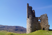 Ardvreck Castle At Loch Assynt In The Scottish Highlands
