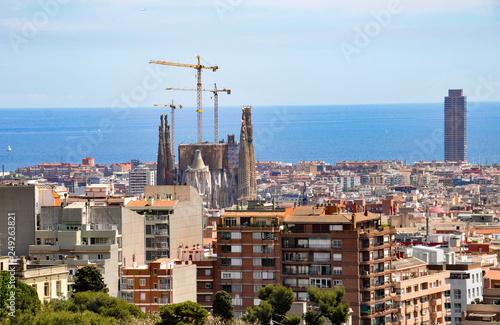 Aerial view ov Barcelona