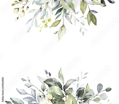 Botanical Design Herbal Banners On White Background For Wedding Invitation Business Products Web Banner With Leaves Herbs Buy This Stock Photo And Explore Similar Images At Adobe Stock Adobe Stock