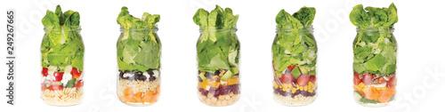 Fototapeta Zdrowa żywność w słoiku kompilacja obraz