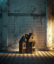 Dollhouse In Haunted Hallway,3...