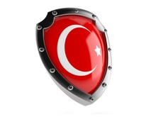 Protective Shield With Turkish Flag