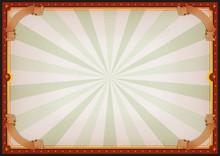 Vintage Blank Circus Poster Si...