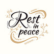 Rest in peace text for Respect for the funeral vector