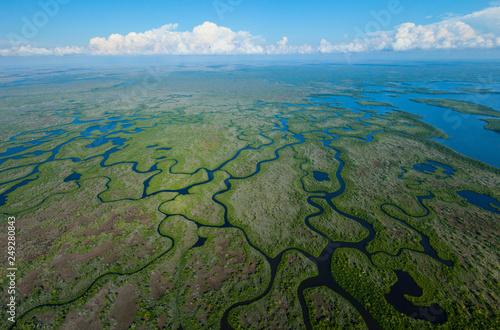 Fotomural Aerial view, Everglades Natuional Park, FLORIDA, USA, AMERICA