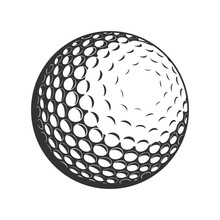 Golf Ball Vector Flat Icon