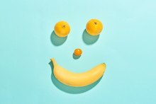 Happy Fruit Face With Banana, ...