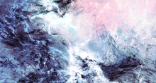 Icy Waves. Blue Artistic Splas...