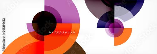 Fotografie, Obraz Geometric circle abstract background, creative geometric wallpaper
