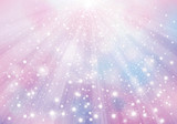 Vector  violet sparkling background with rays, lights and stars.