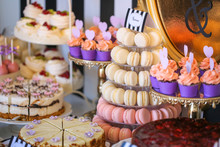Luxury Candy Bar With Delicious Sweets