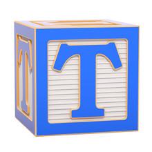 ABC Alphabet Wooden Block With...