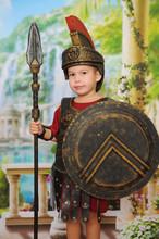 Little Boy Dressed As A Roman ...