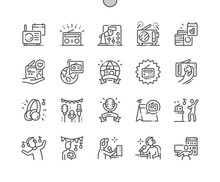 World Amateur Radio Day Well-crafted Pixel Perfect Vector Thin Line Icons 30 2x Grid For Web Graphics And Apps. Simple Minimal Pictogram