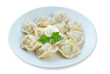 Dumplings On An Isolated Background