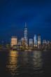 New York night skyline.