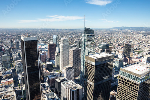 Fototapety, obrazy: Aerial View Of Downtown Los Angeles