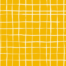Seamless Lined Pattern. Vector Hand Drawn Ink Lines. Checkered Pattern