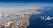 ägyptische strände am meer von oben