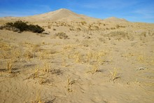 Kelso Dunes Peaks View Over Bright Blue Sky