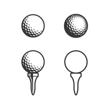Golf Tee And Ball Icon