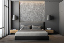 Gray And Stone Bedroom Close Up