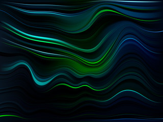 NaklejkaModern colorful flow poster. Abstract background with waves. Vector illustration