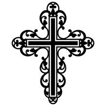 Filigree Cross, Catholic Cross, Christian Cross