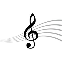 Treble Clef Icon, Simple Icon ...