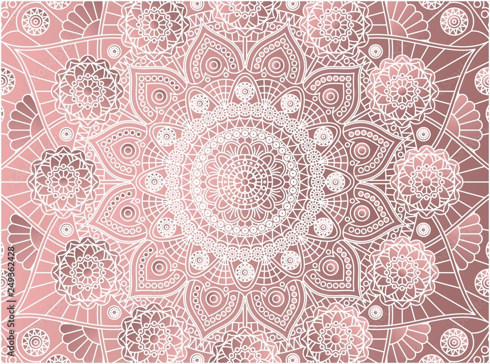 Vector background with mandala pattern.