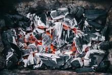 Top View Of Hot Burning Coals ...