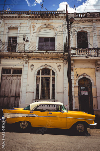 Poster Havana Old Cab