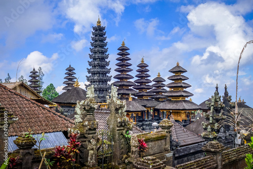 Wall Murals Place of worship Pura Besakih temple on mount Agung, Bali, Indonesia
