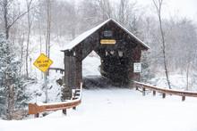 Emilys Covered Bridge, Stowe, Vermont, USA