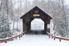 Emilys Covered Bridge, Stowe, Vermont, USA