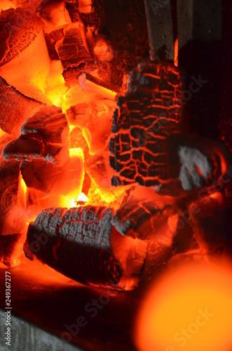 Cadres-photo bureau Dragons Beautiful fire flame