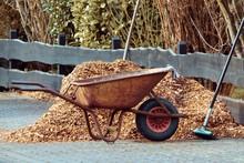 Schubkarre Zur Gartenarbeit