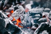 Selective Focus Of Hot Burning Coals In Ash