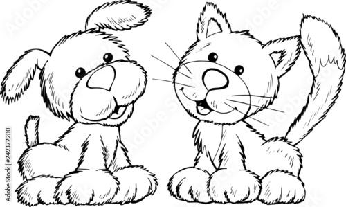 Fototapeta Kot i pies obraz