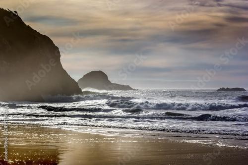 Evening on a California beach