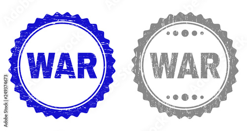 Canvas Print Grunge WAR stamp seals isolated on a white background