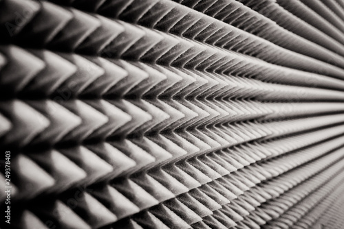 close up Sound Absorption, noise reduction texture in recorder room ,with light Tablou Canvas