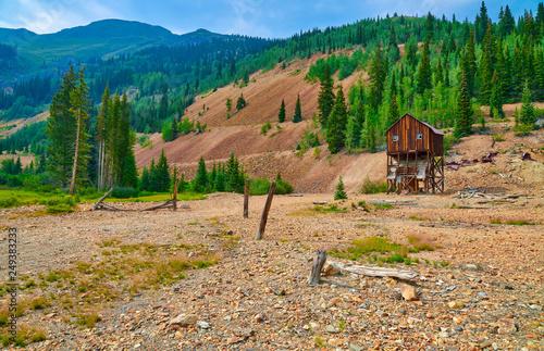Fotografie, Obraz  Abandoned Colorado Mine Structure