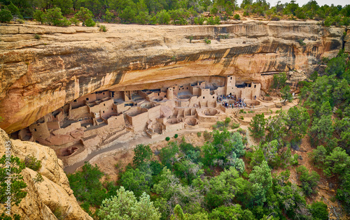 Tour of Cliff Palace at Mesa Verde National Park Canvas Print