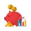 piggy bank stock market